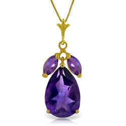 ALARRI 6.5 Carat 14K Solid Gold Christiana Amethyst Necklace