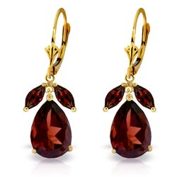 ALARRI 13 CTW 14K Solid Gold Vineyards Garnet Earrings