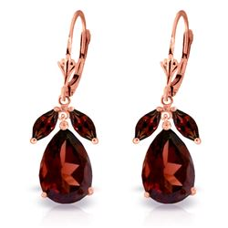 ALARRI 13 Carat 14K Solid Rose Gold Belle Garnet Earrings