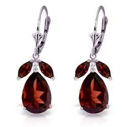 ALARRI 13 Carat 14K Solid White Gold Ophelia Garnet Earrings