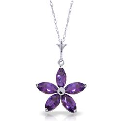 ALARRI 1.4 CTW 14K Solid White Gold I Summon You Amethyst Necklace