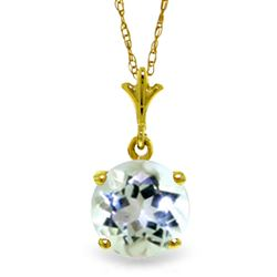 ALARRI 1.15 Carat 14K Solid Gold Affectionate Aquamarine Necklace