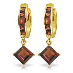 ALARRI 4.4 Carat 14K Solid Gold Ladeeda Garnet Earrings