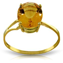 ALARRI 2.2 Carat 14K Solid Gold Exclamations Citrine Ring