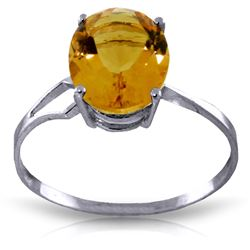 ALARRI 2.2 Carat 14K Solid White Gold Truly Thankful Citrine Ring