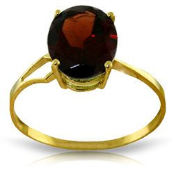 ALARRI 2.2 Carat 14K Solid Gold Reluctant Lover Garnet Ring