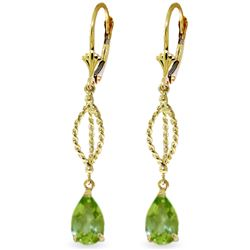 ALARRI 3 CTW 14K Solid Gold Vivid Fantasy Peridot Earrings