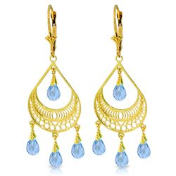 ALARRI 6.75 Carat 14K Solid Gold Barcelona Blue Topaz Earrings