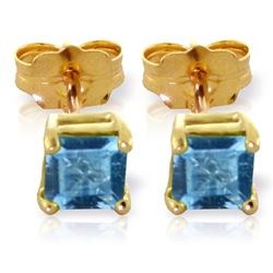 ALARRI 0.95 Carat 14K Solid Gold Flowers Don't Lie Blue Topaz Earrings