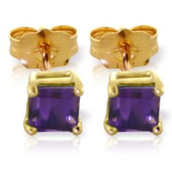 ALARRI 0.65 Carat 14K Solid Gold Cheers To Love Amethyst Earrings