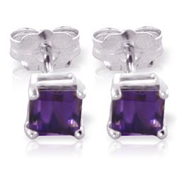 ALARRI 0.65 CTW 14K Solid White Gold Paradisio Amethyst Earrings