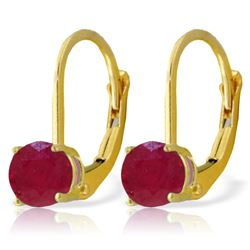ALARRI 1.2 Carat 14K Solid Gold Fire Flame Ruby Earrings