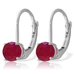 ALARRI 1.2 Carat 14K Solid White Gold Race Your Heart Ruby Earrings
