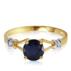 ALARRI 1.02 Carat 14K Solid Gold Purge Your Soul Sapphire Diamond Ring