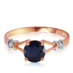 ALARRI 1.02 Carat 14K Solid Rose Gold Cathy Sapphire Diamond Ring
