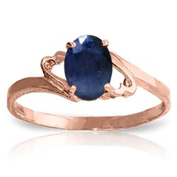 ALARRI 1 CTW 14K Solid Rose Gold Rings Natural Sapphire