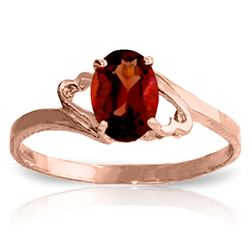 ALARRI 0.9 Carat 14K Solid Rose Gold Gigi Garnet Ring
