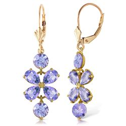 ALARRI 5.32 Carat 14K Solid Gold Petals Tanzanite Earrings