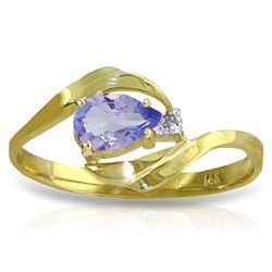 ALARRI 0.51 CTW 14K Solid Gold Daffodil Delight Tanzanite Diamond Ring