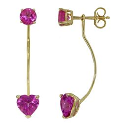 ALARRI 4.55 CTW 14K Solid Gold Butterfly's Desire Pink Topaz Earrings