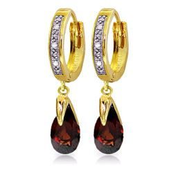 ALARRI 2.53 Carat 14K Solid Gold Marseille Garnet Diamond Earrings