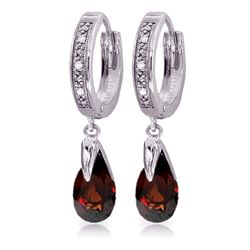 ALARRI 2.53 CTW 14K Solid White Gold Line Of View Garnet Diamond Earrings