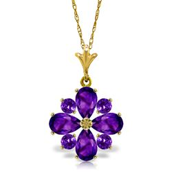 ALARRI 2.43 Carat 14K Solid Gold Testimony Of Love Amethyst Necklace