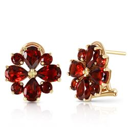ALARRI 4.85 Carat 14K Solid Gold Fiore Garnet Earrings