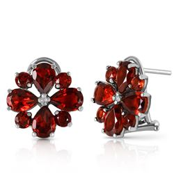 ALARRI 4.85 CTW 14K Solid White Gold Sultry Touch Garnet Earrings