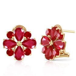 ALARRI 4.85 Carat 14K Solid Gold French Clips Earrings Natural Ruby