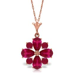 ALARRI 2.23 CTW 14K Solid Rose Gold Winter Ruby Necklace