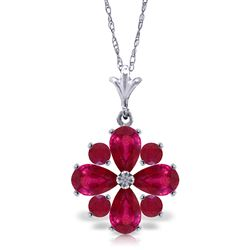 ALARRI 2.23 Carat 14K Solid White Gold Invincible Ruby Necklace