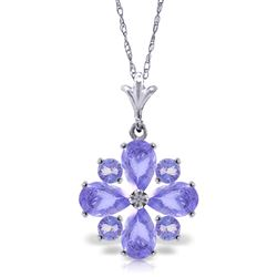ALARRI 2.43 CTW 14K Solid White Gold Tanzanite Necklace Pressed Against You