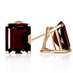 ALARRI 14 Carat 14K Solid Gold Distinction Garnet Earrings