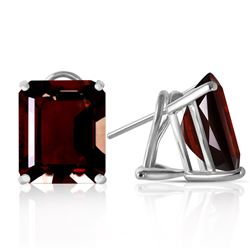 ALARRI 14 Carat 14K Solid White Gold Butterfly Dreams Garnet Earrings