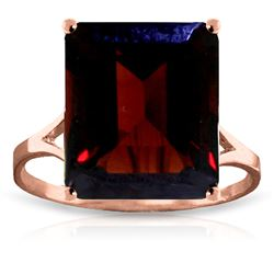 ALARRI 7 Carat 14K Solid Rose Gold Ring Natural Octagon Garnet