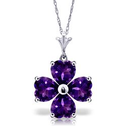 ALARRI 3.8 Carat 14K Solid White Gold As I Perceive Amethyst Necklace