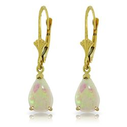 ALARRI 1.55 Carat 14K Solid Gold Warm Ice Opal Earrings