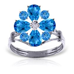 ALARRI 2.43 Carat 14K Solid White Gold All The Time Blue Topaz Ring