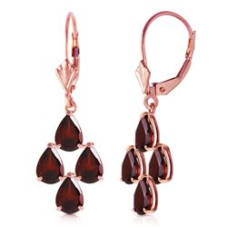 ALARRI 4.5 Carat 14K Solid Rose Gold Garnet Nights Earrings