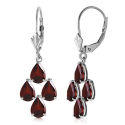 ALARRI 4.5 CTW 14K Solid White Gold Walk Boldly Garnet Earrings
