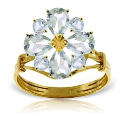 ALARRI 2.43 CTW 14K Solid Gold Ring Natural Aquamarine