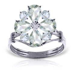 ALARRI 2.43 CTW 14K Solid White Gold Ring Natural Aquamarine