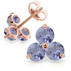 ALARRI 1.5 CTW 14K Solid Rose Gold Joelle Tanzanite Stud Earrings