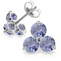 ALARRI 1.5 Carat 14K Solid White Gold Great Idea Tanzanite Earrings