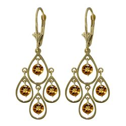 ALARRI 2.4 CTW 14K Solid Gold Pleasure Citrine Earrings