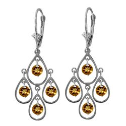 ALARRI 2.4 CTW 14K Solid Gold Quality Of Love Citrine Earrings