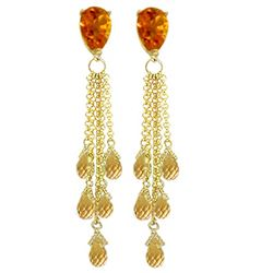 ALARRI 15.5 Carat 14K Solid Gold Chandelier Earrings Briolette Citrine