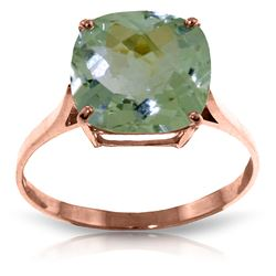 ALARRI 3.6 CTW 14K Solid Rose Gold Spellbound Green Amethyst Ring