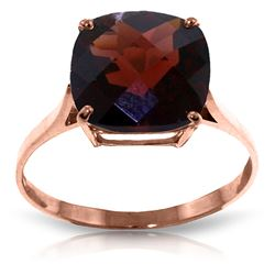 ALARRI 4.5 Carat 14K Solid Rose Gold Ring Natural Checkerboard Cut Garnet